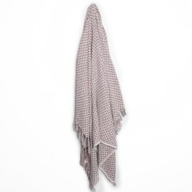 Malmo Cotton Throw Mauve