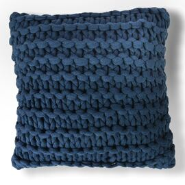 Meridian Chunky Square Cushion Blue (navy)