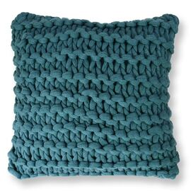 Meridian Chunky Square Cushion Emerald