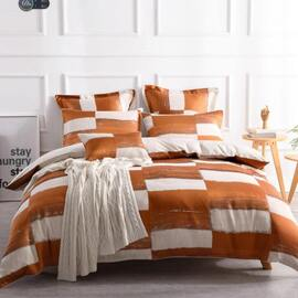 Rowan Orange Quilt Cover Set