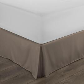 400TC Pleated Valance DB BLK