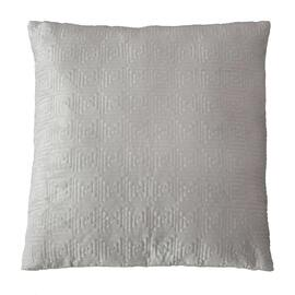 Velvet Greek Key European Pillowcase Silver