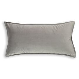 Velvet Cushion Oblong Silver