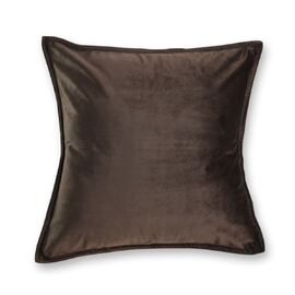 Velvet Cushion Square Chocolate