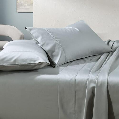 1000TC Cotton Sheet Set Sage Super King Bed