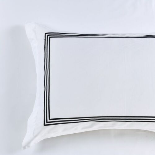 King Size Pillowcase -1000 Thread Count Black