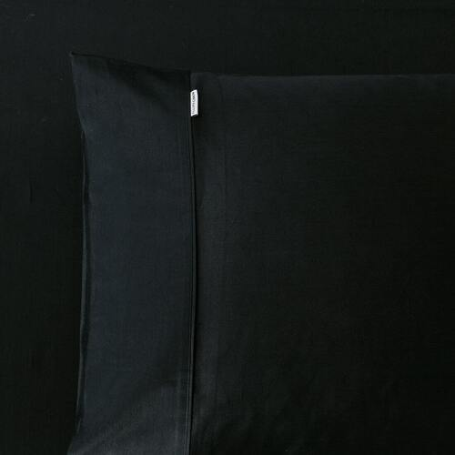 400TC Fitted Sheet Black Mega Queen Bed