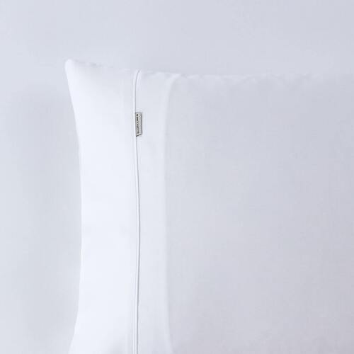 400TC Fitted Sheet White Mega King Bed