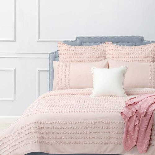 Dale Quilt Cover Set Blush [SIZE: King Bed]