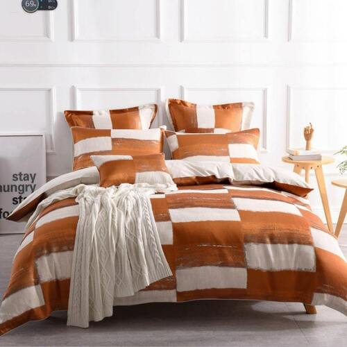Rowan Orange Quilt Cover Set [SIZE: Oblong Cushion]